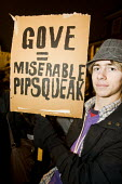 Gove = Miserable Pipsqueak. Sixth form pupils in opposition to fees and the scrapping of the Education Maintenance Allowance (EMA). They march to Finchley and Golders Green MP Mike Freer's office in B... - Jess Hurd - 18-11-2010