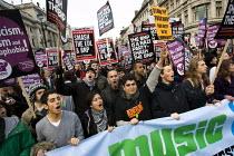 Love Music Hate Racism banner. UAF demonstration against racism. London. - Jess Hurd - 2010,2010s,activist,activists,against,Anti Racism,anti racist,bigotry,BNP,British National Party,CAMPAIGN,campaigner,campaigners,CAMPAIGNING,CAMPAIGNS,DEMONSTRATING,demonstration,DEMONSTRATIONS,DISCRI