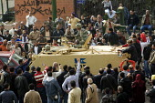 Protesters on an amoured vehicle. Uprising against President Mubarak, Cairo, Egypt. - Jess Hurd - 29-01-2011