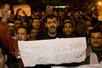 Stop US support to Mubarak. Uprising against Mubark, Al-Tahrir (Liberation Square), Cairo, Egypt - Jess Hurd - 30-01-2011