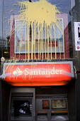 Paint splattered Santander Bank. - Jess Hurd - 26-03-2011