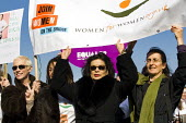 Annie Lennox, Bianca Jagger join women on London Millennium Bridge and at bridges in more than 30 other countries on International Women Day centenary to demand that Afghan women sit as equals at peac... - Jess Hurd - 08-03-2011