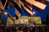 Demonstrations against austerity measures. Syntagma Square, Athens, Greece. - Jess Hurd - 18-06-2011