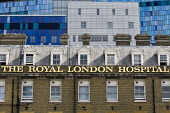 The Royal London Hospital with the new PFI building behind. Whitechapel, East London. - Jess Hurd - 29-07-2011