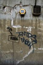 No More Freedom - CCTV graffiti in Whitechapel, East London. - Jess Hurd - 29-07-2011