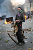 Toy hobby horse. Riots spread to Hackney following a fatal police shooting. Riot police struggle to maintain order as rioting spreads across the country after Mark Duggan, 29, a father of four, was ki... - Jess Hurd - 08-08-2011