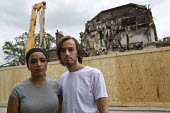 Dean Pursey and Vina Andersson a young couple who lost their flat which was burned to the ground during the tottenham riots. They were paying �575 per month for flat. Council now trying to charge them... - Jess Hurd - 13-08-2011