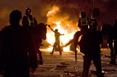 Riots in Tottenham. Riot police clashed with hundreds of rioters after the fatal shooting of Mark Duggan, 29, who was killed by police on Thursday. North London. - Jess Hurd - ,2010s,2011,adult,adults,animal,animals,arson,BAME,BAMEs,Black,blaze,BME,bmes,building,buildings,burn,burning,BURNS,cities,city,CLJ,conflict,conflicts,destroyed,destruction,diversity,domesticated ungu