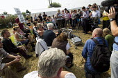 Travellers from Dale Farm and their supporters from Camp Constant hold a press conference. Basildon, Essex. - Jess Hurd - 02-09-2011