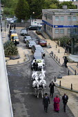 The funeral cortege of Mark Duggan who was killed by the police in Tottenham passes through the Broadwater Farm Estate, North London. - Jess Hurd - 2010s,2011,adult,adults,BAME,BAMEs,Black,BME,BME Black Minority Ethnic,bmes,cities,city,CLJ,DEATH,death in police custody,deaths,died,diversity,ethnic,ethnicity,Farm,funeral,funerals,MATURE,metropolit