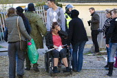 Emotional scenes as travellers and their supporters are evicted from Dale Farm, Basildon. London. - Jess Hurd - 2010s,2011,activist,activists,BAME,BAMEs,BME,bmes,bound,CAMPAIGN,campaigner,campaigners,CAMPAIGNING,CAMPAIGNS,cry,crying,DEMONSTRATING,DEMONSTRATION,DEMONSTRATIONS,disabilities,disability,disable,disa