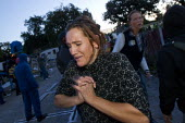 Emotional scenes as travellers and their supporters are evicted from Dale Farm, Basildon. London. - Jess Hurd - 19-10-2011