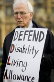 Defend the Disability Living Allowance. Protest against the Welfare Reform Bill outside the House of Lords. Westminster, London. - Jess Hurd - 17-01-2012