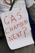 Gas chambers next? Protest against the Welfare Reform Bill outside the House of Lords. Westminster, London. - Jess Hurd - 17-01-2012