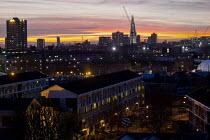 View of Shard London Bridge at sunset, London. - Jess Hurd - 12-01-2012