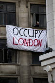 Occupy London protesters take over a branch of the Iraqi Rafidain Bank in London main financial district. The building turned to have foreign consulate status as the commercial attache building. City... - Jess Hurd - 27-01-2012