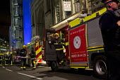 Firefighters are sent to check the Iraqi Rafidain Bank in the main financial district. City of London. - Jess Hurd - 27-01-2012