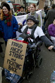 Disabled activists and UK Uncut protest oppose the Welfare Reform Bill. Disabled protesters chain themselves together at Oxford Circus. London. - Jess Hurd - 2010s,2012,activist,activist activists,activists,against,anti,ATOS,austerity cuts,benefit benefits,Benefit cuts,blockade,BLOCKADING,CAMPAIGN,campaign campaigning,campaigner,campaigners,CAMPAIGNING,CAM