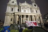 Occupy protesters camping outside St Paul's Cathedral waiting for the eviction the protest camp. London. - Jess Hurd - 22-02-2012