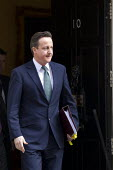 David Cameron, PM leaves 10 Downing St. Budget Day, Westminster, London. - Jess Hurd - 21-03-2012