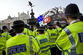 Operation Trafalgar launches in the West End London. Increased, visible policing is designed to tackle crime, disorder and anti-social behaviour. Piccadilly Circus. - Jess Hurd - 29-03-2012