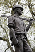Statue of the Unknown Building Worker. Workers International Memorial Day. London. - Jess Hurd - 28-04-2012