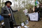 Campaigner and founder of the Gypsy Council, Grattan Puxon speaking at the Holocaust Memorial Stone on the oppression of Roma and on the genocide by the Nazis who murdered 500,000 Roma. Dale Farm and... - Jess Hurd - 2010s,2012,activist,activists,anti racism,anti racist,anti-Semitism,BAME,BAMEs,bigotry,BME,bmes,campaign,campaigner,campaigners,campaigning,CAMPAIGNS,Council,Day,DEMONSTRATING,Demonstration,DEMONSTRAT