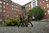 Lexington House in Bow Quarter, the old Bryant & Mays match factory, where the British army are securing a position for a surface to air missile system to guard the 2012 Olympic Games against terroris... - Jess Hurd - 01-05-2012