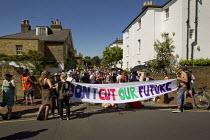 UK Uncut Great London Street Party outside Nick Clegg MP's London home. Putney. - Jess Hurd - 26-05-2012