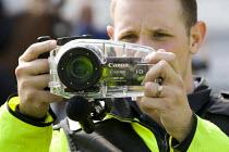 Police surveillance of journalists. English Defence League disrupt a UK Uncut anti austerity, anti monarchy street party, Diamond Jubilee weekend, Brighton. - Jess Hurd - 02-06-2012