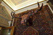 Work by artist Debbie Lawson, Persian Moose, one of Lawson iconic, tactile carpet sculptures. Town Hall Hotel, Hackney, London. - Jess Hurd - 19-01-2012