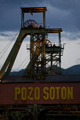 Pozo de Soton coal mine. The miners have been on strike since the government announced cuts to mining subsidies due to austerity which will mean an end to mining. Asturias. Northern Spain. - Jess Hurd - 16-06-2012