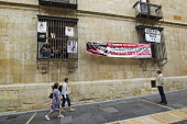 Miners occupy government offices of the PSOE in Leon. The miners have been on strike since the government announced cuts to mining subsidies due to austerity cuts which will mean an end to mining. Ast... - Jess Hurd - 19-06-2012