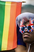 Union jack sunglasses at World Pride 2012, Trafalgar Square. London. - Jess Hurd - 07-07-2012