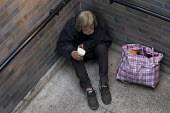 Paul (52) is homeless after a breakdown following his divorce. He has been issued a court order restricting him from begging in his usual patch near Tower Bridge, Tower Hamlets, East London. - Jess Hurd - 27-08-2012