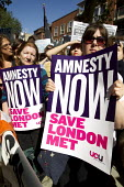 London Met protest outside the Home Office calling for an amnesty for international students under threat of deportation. London. - Jess Hurd - 05-09-2012