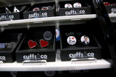 I love Ed Miliband MP. Cufflinks on sale Cuffs&co. Labour Party Conference 2012, Manchester. - Jess Hurd - 30-09-2012