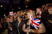 Olympic flag waving. Labour Party Conference 2012, Manchester. - Jess Hurd - 02-10-2012