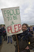 Proud to be a Pleb. A Future That Works. March and rally organised by the TUC to protest against the government austerity policies and to call for an alternative economic strategy that puts jobs, grow... - Jess Hurd - Protest,2010s,2012,activist,activists,against,anti,austerity,Austerity Cuts,CAMPAIGNING,CAMPAIGNS,DEMONSTRATING,demonstration,government,member,member members,members,No Cuts,placard,placards,protest,