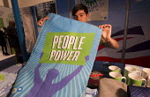 Conservative Party Conference stall, People Power tea towel. 2012, Birmingham. - Jess Hurd - 2010s,2012,Conference,conferences,CONSERVATIVE,Conservative Party,conservatives,Party,POL,political,POLITICIAN,POLITICIANS,Politics