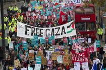 Free Gaza banner. National Student Demonstration - Educate, Employ, Empower. London. - Jess Hurd - 21-11-2012