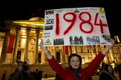 1984 placard London joins a worldwide day of protests and cyber attacks against governments, banks and security firms has been launched by Hacker collective Anonymous to mark Guy Fawkes Day. March fro... - Jess Hurd - 05-11-2012