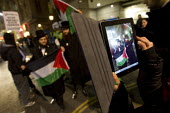 Protests outside the Israeli Embassy after air strikes on Gaza. London. - Jess Hurd - 15-11-2012