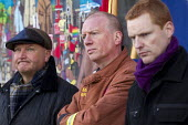 Matt Wrack FBU and Bob Crow RMT Gen Secs. Mass lobby of the London Fire and Emergency Planning Authority (LFEPA) meeting to protest at plans to close 12 fire stations and axe 520 firefighter jobs. Cal... - Jess Hurd - 21-01-2013