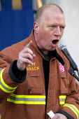 Matt Wrack FBU Gen Sec. Mass lobby of the London Fire and Emergency Planning Authority (LFEPA) meeting to protest at plans to close 12 fire stations and axe 520 firefighter jobs. Called by the London... - Jess Hurd - 21-01-2013