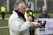 Peter Hain MP, UAF speaking. Anti fascists protest against far right extremists celebrating Worldwide White Pride Day, Swansea, Wales. - Jess Hurd - 09-03-2013