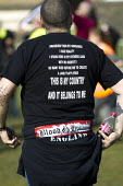 Blood and Honour t-shirt. Far right extremists celebrating Worldwide White Pride Day, Swansea, Wales. - Jess Hurd - 09-03-2013