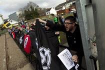 Far right extremists celebrating Worldwide White Pride Day, Swansea, Wales. - Jess Hurd - 09-03-2013