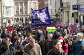 UAF banner, Anti fascist opposition to the March for England, Brighton. - Jess Hurd - 21-04-2013