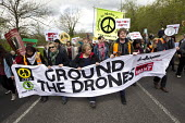 Ground the Drones protest at Waddington Military Air Base, Lincoln. - Jess Hurd - 2010s,2013,activist,activists,against,aircraft,anti,Anti War,Antiwar,armed forces,banner,banners,base,campaign,Campaign for Nuclear Disarmament,campaigner,campaigners,campaigning,CAMPAIGNS,CND,CND Sym